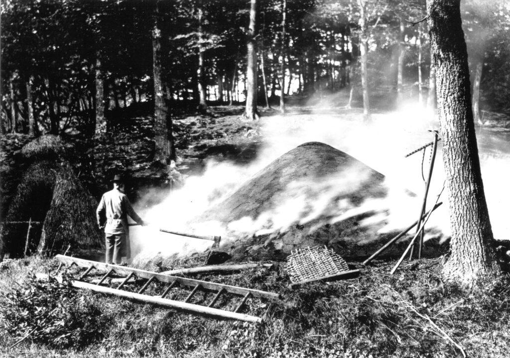 Kohlenmeiler - Ausstellung Wald und Mensch